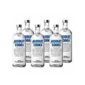 Vodka Absolut Natural 1 Litro Caixa Com 6 Unidades