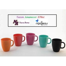 Taza Vidrio Tazon Amanecer 370 Cc Colores Rigolleau