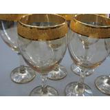 Pasabahce Jogo Taças Vinho Bistrô De Vidro Filetado A Ouro