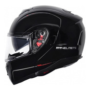 Capacete Moto Mt Sv Atom Solid Gloss Preto Motoqueiro