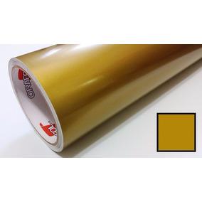 Adesivo Vinil Ouro Gold Oracal Envelopamento - 1,26m X 1,0m