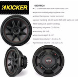Subwoofer(bajo) Kicker Compvr 12 800 Watts Cvr