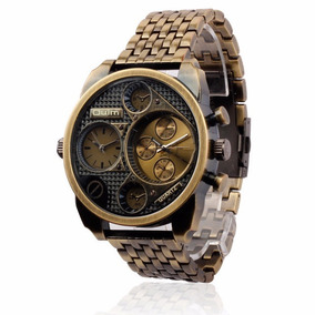 Oulm Reloj Luxury Militar 2 Caras Horarios Envio Gratis