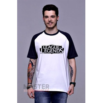 Camiseta League Of Legends Raglan Lol Gamer Pc Rpg Algodão