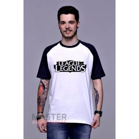 Camiseta League Of Legends Raglan Lol Gamer Pc Rpg Algodão