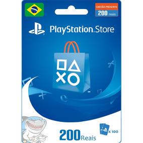 Cartão Psn Brasileira R$ 200 (2x 100) Brasil Ps4 - Rápido