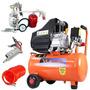 Compressor Ar Portátil 2,5hp 220v Vc-25 + Kit Pintura 573029
