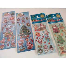 Cartela De Adesivos Kit C/120 Stickers Atacado Natal