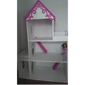 Casa Casinha Bonecas Da Barbie Mdf Pintada Gigante