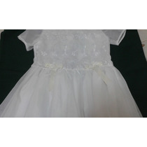 Vestido De Primera Comunión Para Niña Blanco Talla 12 Nuevo