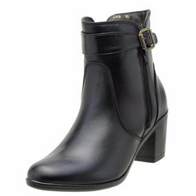 Bota Feminina Cano Curto Art Shoes Couro Legítimo - 0243