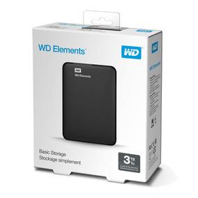 Wd Disco Duro Externo Elements 3tb +2 Años Garantia