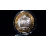 Moneda Bimetálica Plata 100 Pesos Estado De Tlaxcala Bu