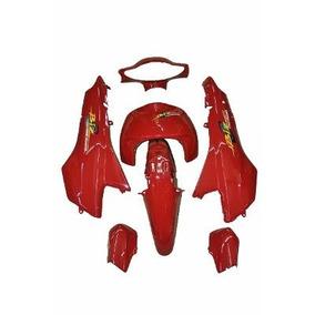 Kit Plásticos Carenagem Honda Biz 100 Vermelho 2004+adesivo