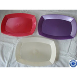 Bandeja Rectangular Plastica Descartable X 10un.