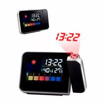 Relógio Projetor Digital Data Mes Temperatura Alarme Umidade