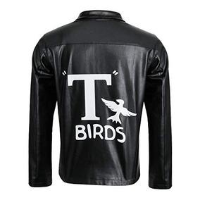 Adult Men 1950s T-birds Chaqueta De Traje Motocicleta Negra