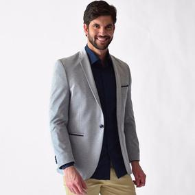 Saco Casual Hombre Corte Slim Fit Diferentes Colores Blazer