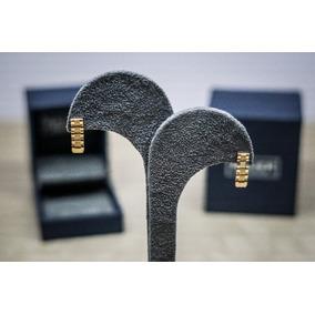 Aretes Tipo Rolex En Oro De 14 Kilates 1.2 Gr. Bauer Joyeros