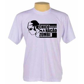 Camisa Banda Rock Chico Science E Nação Zumbi Camiseta