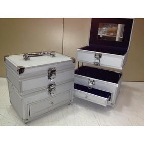 Maletin Porta Cosmeticos Valija Caja Profecional Aluminio!!!