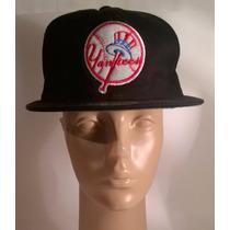 Gorra Visera Plana Ny Yankees Negra Snapback Regalos Vintage