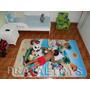 Tapete Infantil Atividades Dupla Face Mickey Carros Barbie