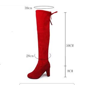 Zapato Bota Roja Larga Medida #20