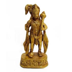 Lord Hanuman Em Bronze O Deus Macaco 21cm Importado Da Índia