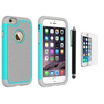 Estuche Mica Iphone 6 6s Plastico Rigido Aqua Gris Mvp Case
