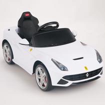 Carrito Electrico Ferrari F12 Nuevo Modelo 2015 Blanco Mp3