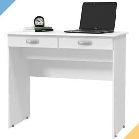 Escrivaninha 2 Gavetas - Ej Móveis Branco