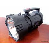 Lanterna Holofote Recarregável 10 Milhões Velas Cree U2 50w
