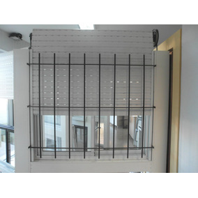 Ventana Aluminio Blanco 150 X 110 Vidrio, Cortina Y Reja