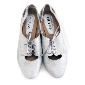 Zapatos Mujer Glitter Plateados Plata Talle 38