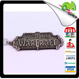 Llavero Metal Wow Gamer Video Juego Regalo World Of Warcraft
