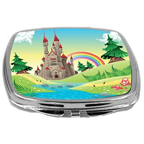 Rikki Knight Compact Mirror, Panorama With Castle, 3 Ounce