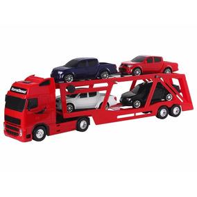 Caminhão Cegonheira Roma Diesel Rx Com 04 Pickups 97 Cm.