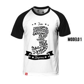 Camiseta Evangélica Masculina Versículos