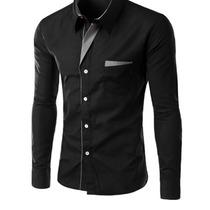 Camisa Social Masculina Slim Fit De Luxo Importada Promoção