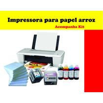 Impressora Para Papel Arroz + 150 Unidades De Papel Arroz