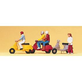 Personas En Moto H0 Preiser 10128 Milouhobbies