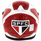 Mini Capacete Pro Tork Futebol São Paulo Decorativo