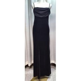 Vestido De Fiesta T.30/34, Terciopelo Negro, Stretch