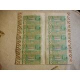 Antiguo Billete Entero Lotería Coleccionable Uruguayo 1968