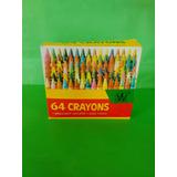 Caja De 64 Crayones De Colores