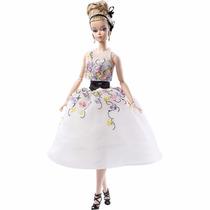 Brinquedo Barbie Colecionável Bfmc Vestido Branco Dgw56