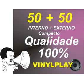 50 Plasticos Interno + 50 Externo 0,15 Disco Vinil Compacto