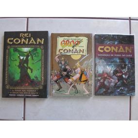 Lote 3 Encadernados Do Conan Rei Conan Groo E Fenix Mythos