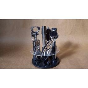 Suporte Acrilico Giratorio Kit Cozinha Utilitários Alto Luxo